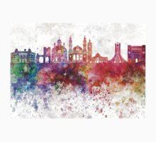 Algiers skyline in watercolor background One Piece - Short Sleeve