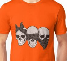 scary skull scarf see hear speak no evil Unisex T-Shirt