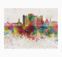 Boston V2 skyline in watercolor background One Piece - Short Sleeve