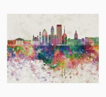 Baltimore V2 skyline in watercolor background Kids Tee