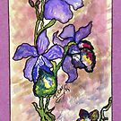 COOL COLOR FLOWER STUDY by Tammera