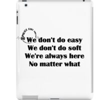 000 Emergency Operator 7 - Dont Do Easy Black Print iPad Case/Skin