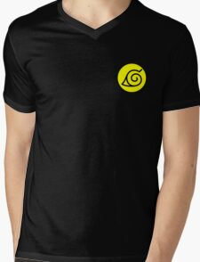 Naruto Konoha Leaf Symbol Design  Mens V-Neck T-Shirt