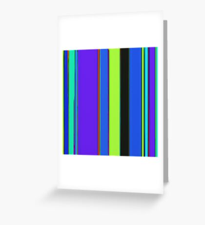 Bright stripes 2 Greeting Card