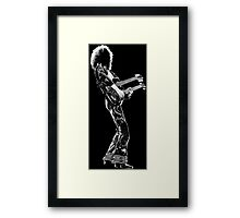 rock and roll legend double guitar Framed Print