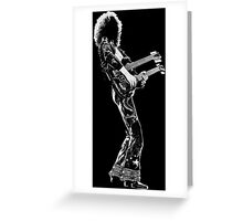 rock and roll legend double guitar Greeting Card