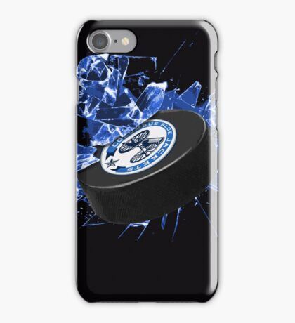 Columbus Blue Jackets Puck iPhone Case/Skin