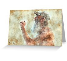 Old Man in Cap Greeting Card