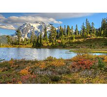 Mt. Shuksan in the Fall (HDR) Photographic Print