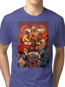 Fire Thundercats Tri-blend T-Shirt