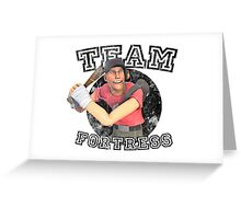 Team Fortress 2 Scout College Sports Design Greeting Card