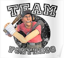 Team Fortress 2 Scout College Sports Design Poster
