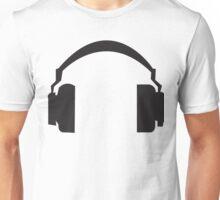 Black Headphones Design Unisex T-Shirt