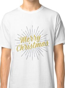 Merry Christmas Typography Concept Classic T-Shirt