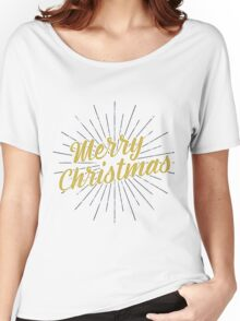 Merry Christmas Typography Concept Women's Relaxed Fit T-Shirt