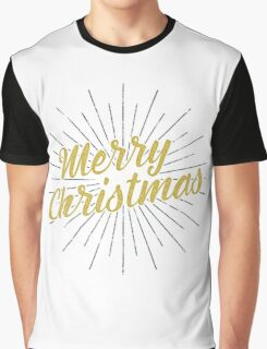 Merry Christmas Typography Concept Graphic T-Shirt