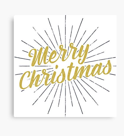 Merry Christmas Typography Concept Canvas Print