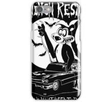 Skunk in a 1959 Cadillac Hearse Ed Roth inspired iPhone Case/Skin