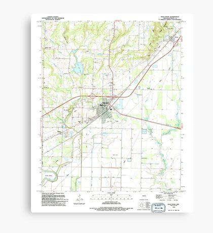 USGS TOPO Map Arkansas AR Bald Knob 257923 1994 24000 Canvas Print