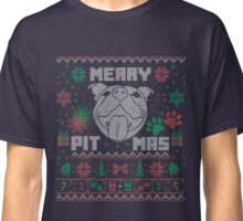 Pitbull Christmas Gift Idea Design- Merry Pitmas Design Classic T-Shirt