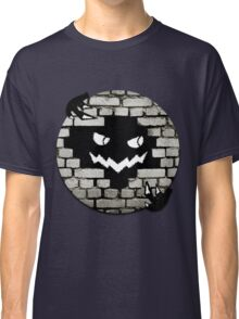 Brick Wall Scary Face Classic T-Shirt