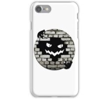 Brick Wall Scary Face iPhone Case/Skin