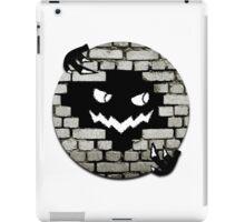 Brick Wall Scary Face iPad Case/Skin