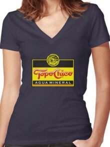 Topo Chico Merchandsie Women's Fitted V-Neck T-Shirt