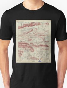 USGS TOPO Map Arkansas AR Poteau Mountain 260560 1899 125000 Unisex T-Shirt