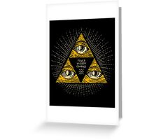 Trilluminati Greeting Card