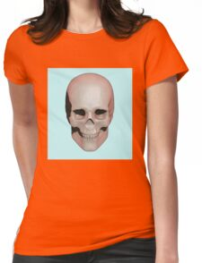 Skull (Pastel Tones) Womens Fitted T-Shirt