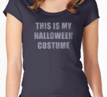 Vintage This Is My Halloween Costume T-Shirt Women's Fitted Scoop T-Shirt