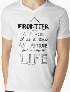 Frontier Mens V-Neck T-Shirt