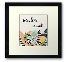 Wonders await Framed Print