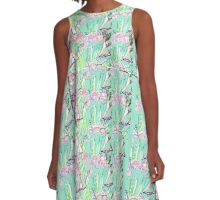 Scent of the Rows Of Tulips  A-Line Dress