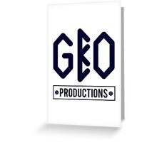 GBO PRODUCTION BLACK/BLUE Greeting Card