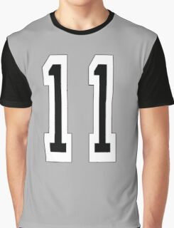 11, TEAM SPORTS NUMBER 11, Eleven, Eleventh, Competition Graphic T-Shirt