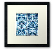Blue Scandi Framed Print