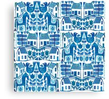 Blue Scandi Canvas Print
