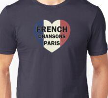 French chansons paris heart Unisex T-Shirt