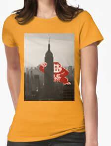 Donkey kong, NY Empire State building Womens Fitted T-Shirt