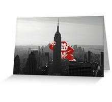 Donkey kong, NY Empire State building Greeting Card