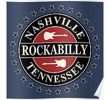 Nashville Rockabilly Tennessee Poster