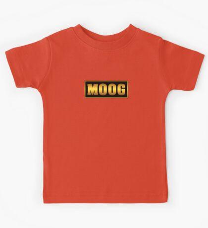 Vintage gold moog synth Kids Tee