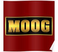Vintage gold moog synth Poster