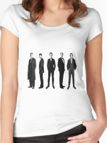 Sherlock cast in black and white Women's Fitted Scoop T-Shirt