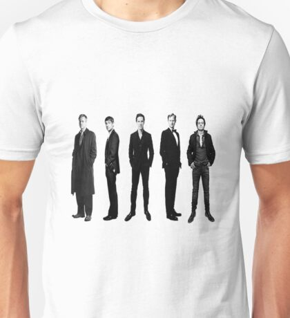 Sherlock cast in black and white Unisex T-Shirt
