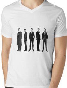 Sherlock cast in black and white Mens V-Neck T-Shirt