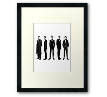 Sherlock cast in black and white Framed Print