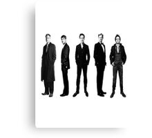 Sherlock cast in black and white Canvas Print